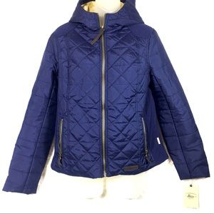 G.H. Bass & Co blue quilted winter jacket coat NEW